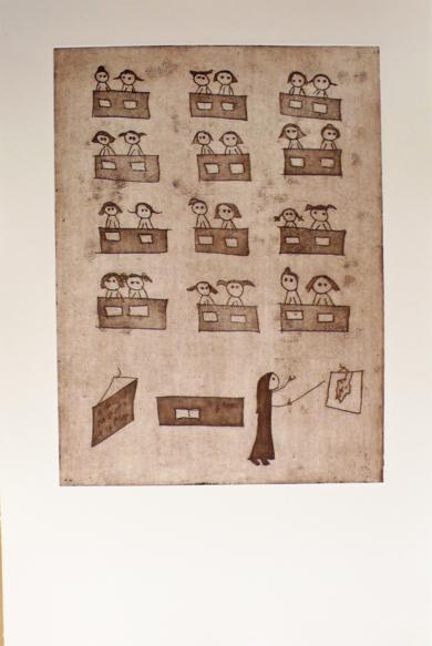 La clase|Obra gráficadeAna Valenciano| Compra arte en Flecha.es