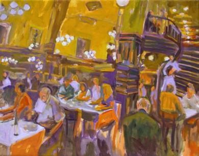 Té a la americana|PinturadeJosé Bautista| Compra arte en Flecha.es