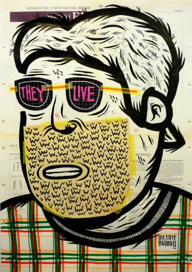 THEY LIVE|CollagedeVicente Aguado| Compra arte en Flecha.es