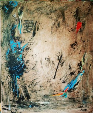 Love U|PinturadeLika| Compra arte en Flecha.es