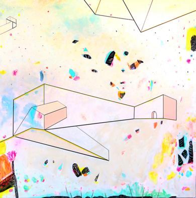 L U G A R E S   H A B I T A D O S  _01|PinturadeKinm Bernal| Compra arte en Flecha.es