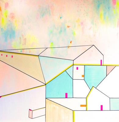 L U G A R E S H A B I T A D O S _04|PinturadeKinm Bernal| Compra arte en Flecha.es