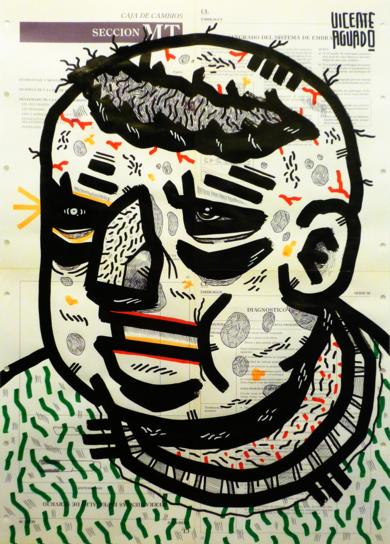 DIOS TARTAMUDEA|DibujodeVicente Aguado| Compra arte en Flecha.es