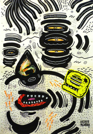 CARMINE GALANTE|DibujodeVicente Aguado| Compra arte en Flecha.es