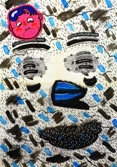 TWITTER ( BLUE BIRD PROJECT )|DibujodeVicente Aguado| Compra arte en Flecha.es