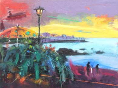 Paraíso 1 ( Punta Brava, Puerto de la Cruz )|PinturadeBenito Salmerón| Compra arte en Flecha.es