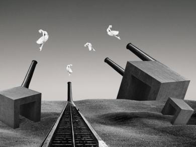 Saltimbanqui|CollagedeJaume Serra Cantallops| Compra arte en Flecha.es
