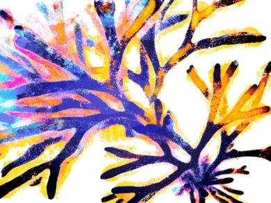 Estallido Azul 3|DigitaldeMarta Caldas| Compra arte en Flecha.es