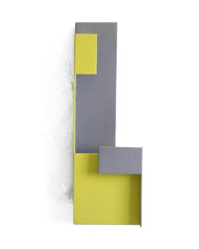 Territorios lindantes_01.  Serie amarilla|Escultura de pareddeCandela Muniozguren| Compra arte en Flecha.es