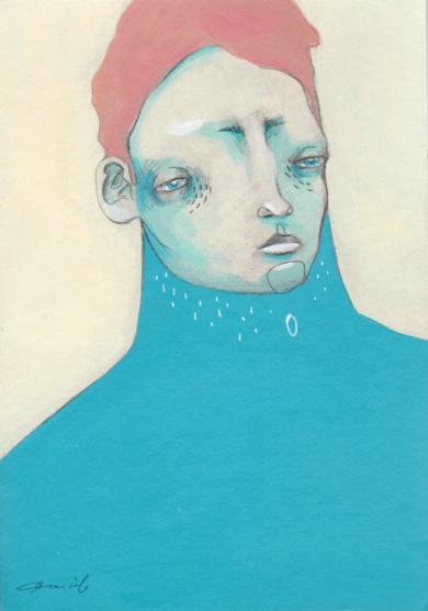 Estudio masculino n.7, El Extraño [Original]|IlustracióndeBran Sólo| Compra arte en Flecha.es