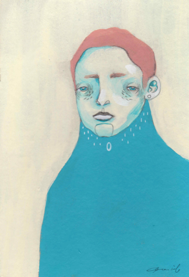 Estudio masculino n.6, Ricardo [Original]|IlustracióndeBran Sólo| Compra arte en Flecha.es
