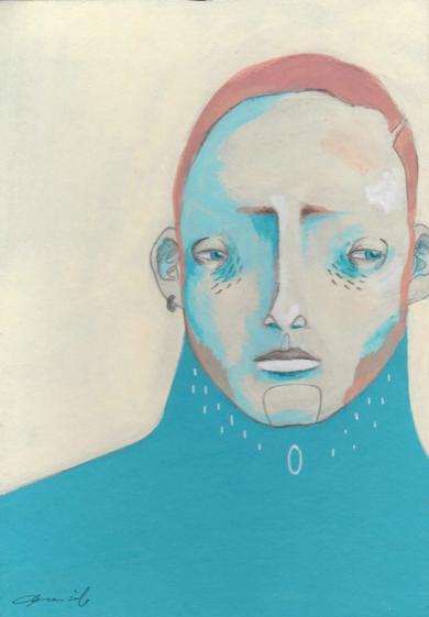 Estudio masculino n.5, Rubén [Original]|IlustracióndeBran Sólo| Compra arte en Flecha.es