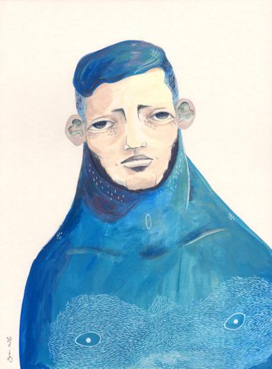 Julio [Original]|IlustracióndeBran Sólo| Compra arte en Flecha.es