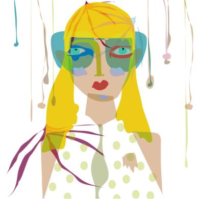 Festejo feliz|DigitaldeMariana sanz POPNTOPMAD| Compra arte en Flecha.es