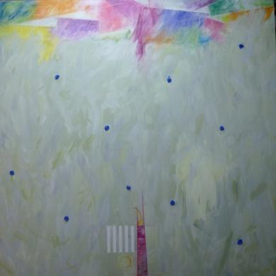 Impactos azules|PinturadeAlbarran| Compra arte en Flecha.es