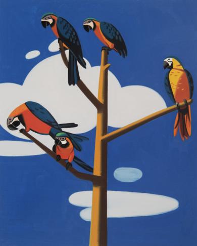 Loros|PinturadeJuan de la Rica| Compra arte en Flecha.es