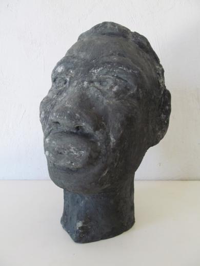 Cabeza cemento|EsculturadeMiguel Costales| Compra arte en Flecha.es