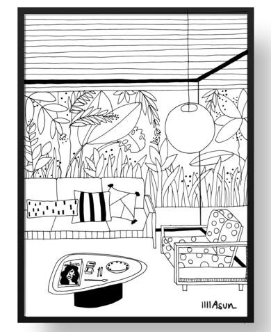 Carioca|DibujodeAsun Navarro Margallo| Compra arte en Flecha.es
