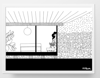 Case Study House|DibujodeAsun Navarro Margallo| Compra arte en Flecha.es