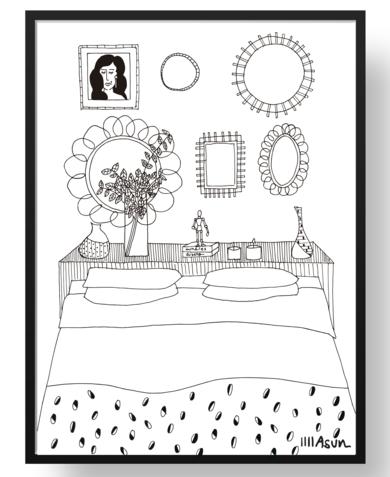 Habitación|Dibujodeasun amar| Compra arte en Flecha.es