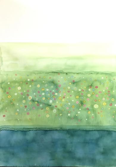 Campo de flores|PinturadeMilena Mateva| Compra arte en Flecha.es