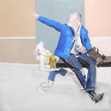 Marco y el conejo|PinturadeSaracho| Compra arte en Flecha.es