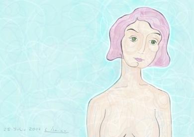 En la piscina|DibujodeLola Barcia Albacar| Compra arte en Flecha.es