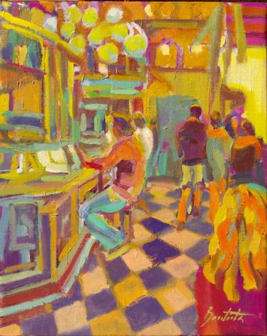 Té de menta verde|PinturadeJosé Bautista| Compra arte en Flecha.es