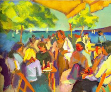 Jalapeños y aros de cebolla|PinturadeJosé Bautista| Compra arte en Flecha.es