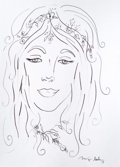 Ninfa 1|DibujodeOuka Leele| Compra arte en Flecha.es