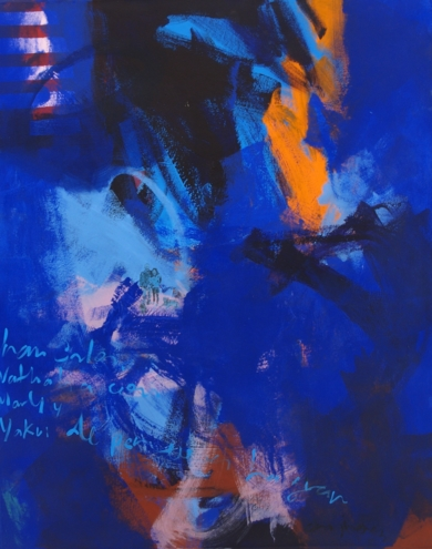 Juan Carlos, Nathalia con Marly y Yakui|PinturadeDilsa Jimenez| Compra arte en Flecha.es