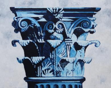 Corintio Azul|PinturadeMiguel Ortega Mesa| Compra arte en Flecha.es