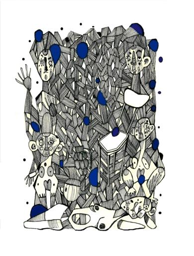 Conexiones programadas II|DibujodeLucas Zapardiel| Compra arte en Flecha.es