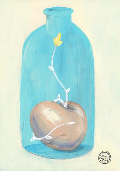 Agua [Original]|IlustracióndeBran Sólo| Compra arte en Flecha.es