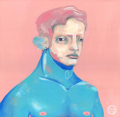 Marrajo|IlustracióndeBran Sólo| Compra arte en Flecha.es