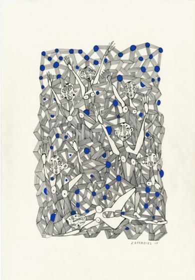 Noche quebrada|DibujodeLucas Zapardiel| Compra arte en Flecha.es