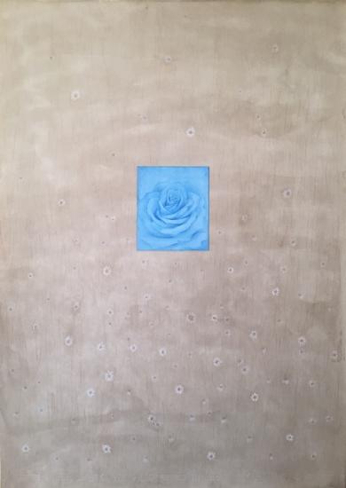 Rosa azul|CollagedeMilena Mateva| Compra arte en Flecha.es
