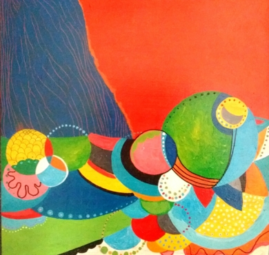 Bajo el río azul|PinturadeANALIA MALOSETTI| Compra arte en Flecha.es