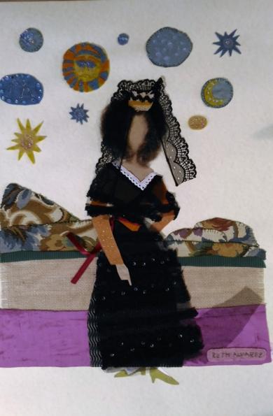 La duquesa y las estrellas|CollagedeRuth Álvarez| Compra arte en Flecha.es
