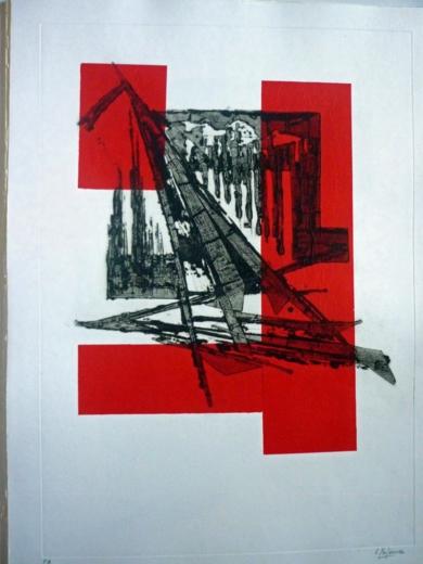 El silencio sobrecoge|Obra gráficadeCarmina Palencia| Compra arte en Flecha.es