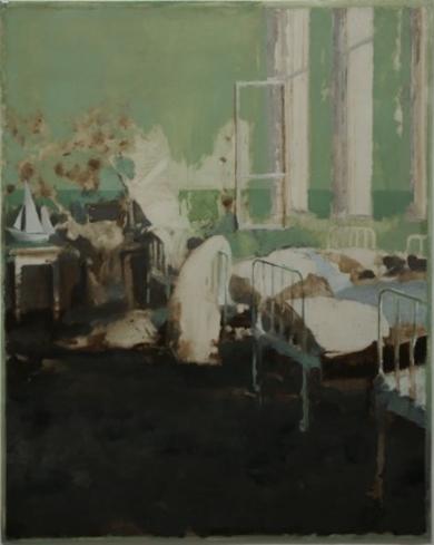 Dormitorio Verde|PinturadeSimon Edmondson| Compra arte en Flecha.es