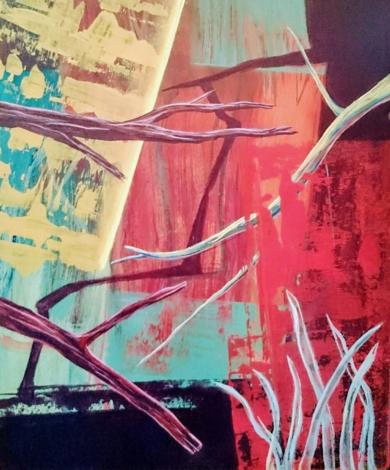 S/T Serie TEXTURAS DE COLOR REF. 131|PinturadePatxo  Cruceta| Compra arte en Flecha.es