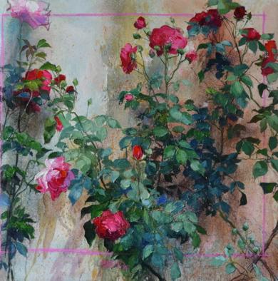 ROSAS|PinturadeÁNGELES CERECEDA| Compra arte en Flecha.es