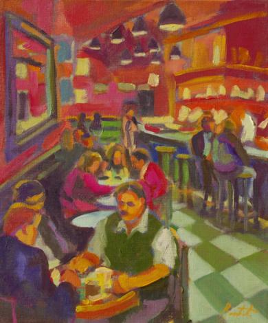 Café caribe|PinturadeJosé Bautista| Compra arte en Flecha.es