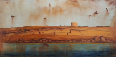 Torre de Formentera|PinturadeMiguel Ángel García López| Compra arte en Flecha.es