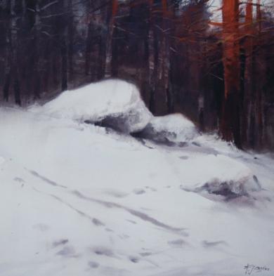 Winter Landscape IV|PinturadeFrancisco Castro| Compra arte en Flecha.es