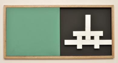 Móvil interactivo 0160 posición B|Escultura de pareddeManuel Izquierdo| Compra arte en Flecha.es