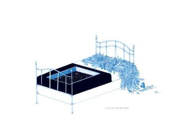 De repente, una cama vacía|DibujodeEspinaca Explosiva| Compra arte en Flecha.es