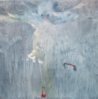 mujer cigueña|PinturadeRosita Ibañez Martin| Compra arte en Flecha.es