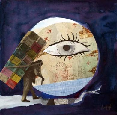 Un gran paso|CollagedeAna Agudo| Compra arte en Flecha.es